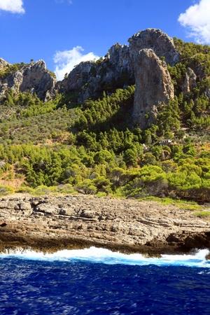 the amazing and wild coastline of Majorca island, Spain photo