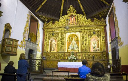inside the chapel of San Antonio Abad - place where Christopher Colombo prayed before the journey to America, Las Palmas, Gran Canaria, Spain Stock Photo - 14819952