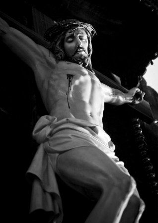 Jesus Christ on the cross from Mallorca church photo