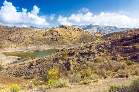 A beautiful mountain scape panorama in Gran Canaria island, Spain Stock Photo - 15185318
