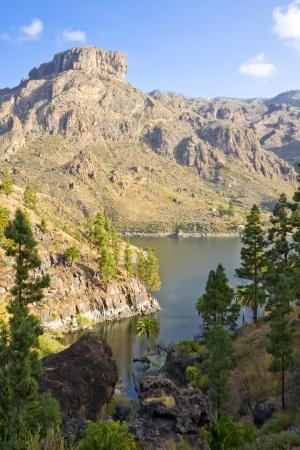 beautifu: A beautifu scape panorama with reservoir - Gran Canaria, Spain