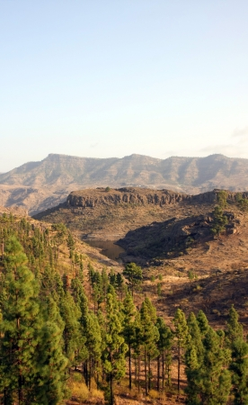A beautiful mountain scape panorama in Gran Canaria, Spain Stock Photo - 14876173