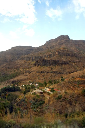 The dreamy and wild mountains of Gran Canaria in Spain  Stock Photo - 14876144