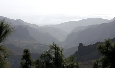 The dreamy and wild mountains of Gran Canaria in Spain Stock Photo - 14876135