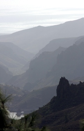 The dreamy and wild mountains of Gran Canaria in Spain  Stock Photo - 14876136