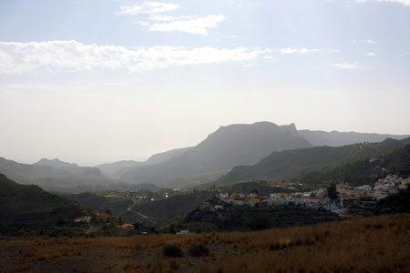 A beautiful mountain scape panorama in Gran Canaria, Spain Stock Photo - 14876134