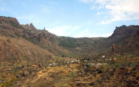 A beautiful mountain scape panorama in Gran Canaria, Spain Stock Photo - 14876154