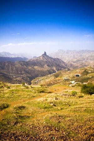gran canaria: Een mooie berg landschap panorama in Gran Canaria, Spanje
