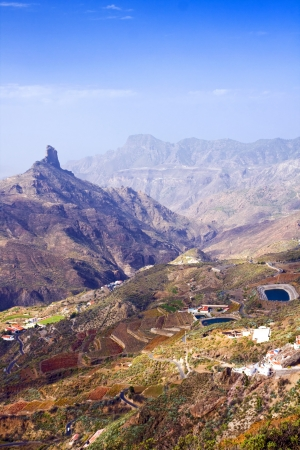 A beautiful mountain scape panorama in Gran Canaria, Spain photo