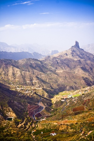 A beautiful mountain scape panorama in Gran Canaria, Spain Stock Photo - 15196866