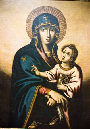 traditional orthodox icon of Mother Mary photo