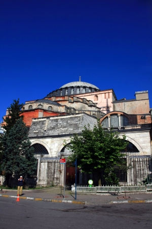 The Hagia Sophia in Istanbul, Turkey, The Church of the Holy Wisdom or Ayasofya in Turkish Stock Photo - 15284017