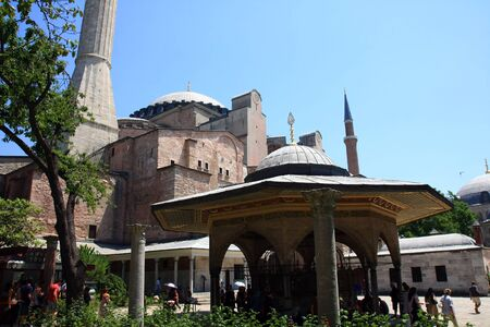 The Hagia Sophia in Istanbul, Turkey, The Church of the Holy Wisdom or Ayasofya in Turkish