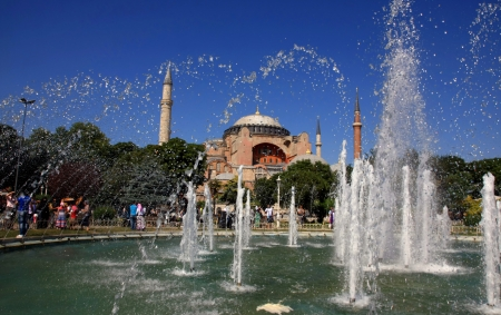 The Hagia Sophia in Istanbul, Turkey, The Church of the Holy Wisdom or Ayasofya in Turkish Stock Photo - 15277757