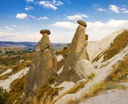 the Famous phallic rock formations in Capapdocia, Turkey photo