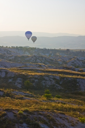 Hot air balloon flying in Cappadocia,Turkey Stock Photo - 15285893