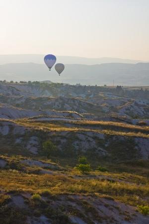 Hot air balloon flying in Cappadocia,Turkey Stock Photo - 15285893
