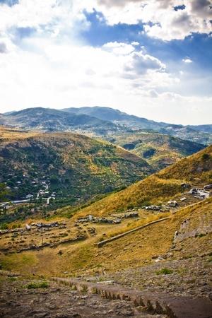 ruins in ancient city of Pergamon, Turkey photo