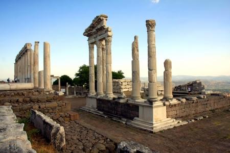 ruins in ancient city of Pergamon, Turkey Фото со стока