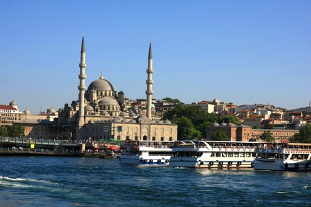 Istanbul city, the view from water, Turkey photo