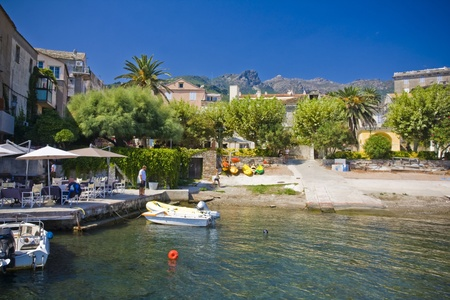 Beautiful village of Erbalunga, Corsica, France