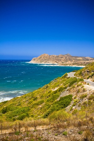 Crystal clean sea along beuty green coastline in amazing island Corsica Stock Photo - 15306292