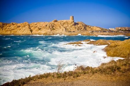 Amazing coastline near St Florent, Corsica, France
