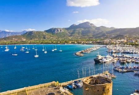 Calvi Town in Corsica island, France Stock Photo