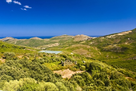 landscape from Corsica, France photo