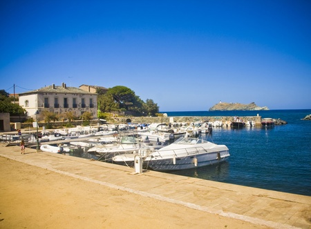 In Barcaggio village in Cap Corse, Corsica, France photo