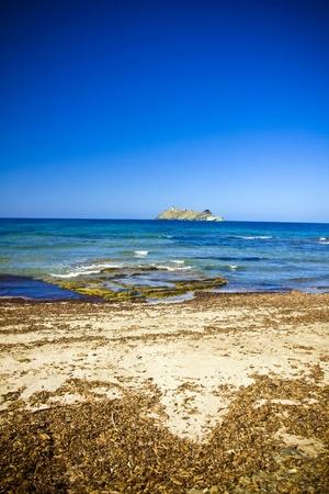 corse: In Barcaggio village in Cap Corse, Corsica, France