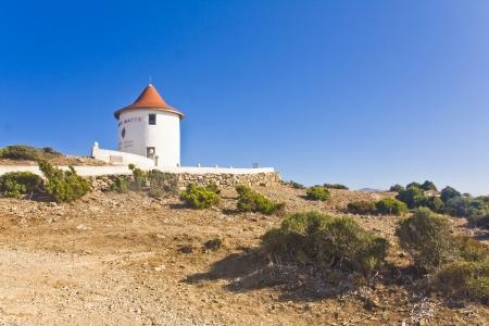 corse: Cap Corse and windmill, Corsica, France