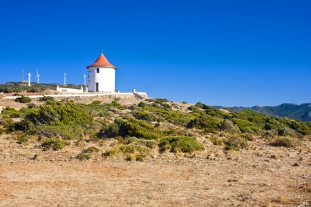 Cap Corse and windmill, Corsica, France photo