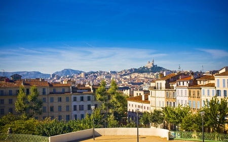chateau d if: amazing city Marseille the view from la Gare, France