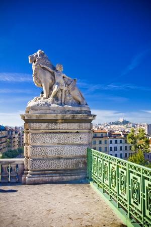 monte cristo: amazing city Marseille the view from la Gare, France