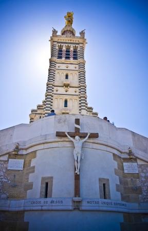 Notre Dame de la Garde in Marseilles in France photo