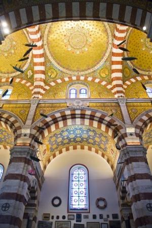 garde: Notre Dame de la Garde in Marseilles in France Editorial
