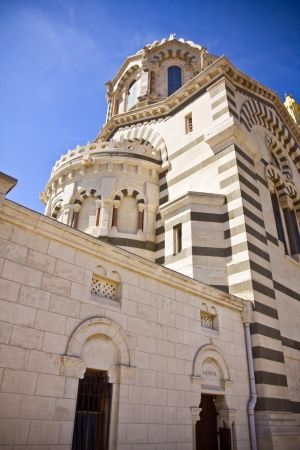 garde: Notre Dame de la Garde in Marseilles in France Stock Photo