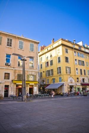 window graffiti: the city centre in Marseille , France