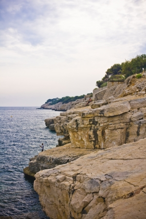 inlet bay:  Calanques near Cassis in France, near Marseille Editorial