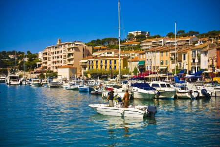 the harbour in Cassis, France Stock Photo - 17465369