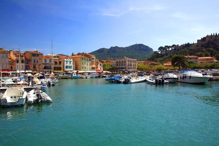 the harbour in Cassis, France Stock Photo - 17461781