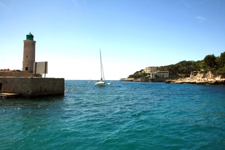 the harbour in Cassis, France photo