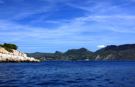 Calanques near Cassis in France, near Marseille photo