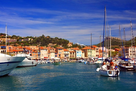 the harbour in Cassis, France Stock Photo - 17459418