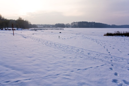 Polish frozen lake photo