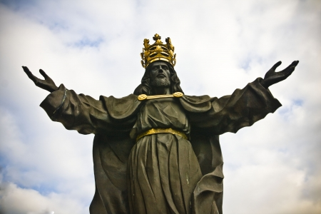 Jesus the king of world in Jasna Gora in Czestochowa, Poland photo
