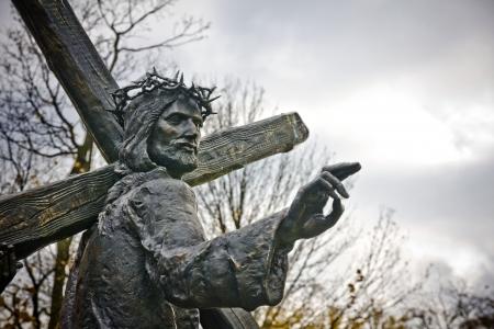 Station of the Cross in Czestochowa, Poland 版權商用圖片