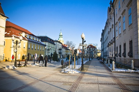 Cieplice city in Winter time, Poland Stock Photo - 18032423