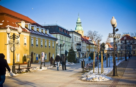 Cieplice city in Winter time, Poland photo